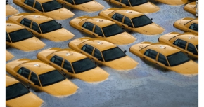 Taxi-cabs-in-Hoboken-during-Superstorm-Sandy